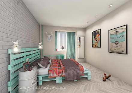 Спальня девушки: Спальни в . Автор - Irina Vasilyeva
