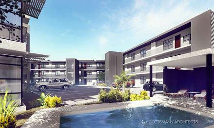 Apartments, Lusaka, Zambia: modern Pool by Gottsmann Architects