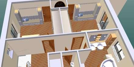 Quarto enfants-3D1: Quartos de criança clássicos por D O M | Architecture interior