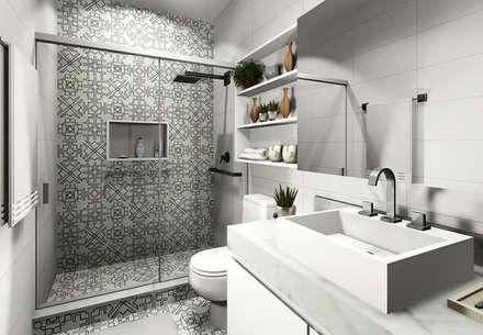 Residência ROS: Banheiros modernos por Bloco Z Arquitetura