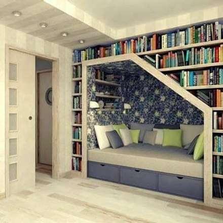 Um exemplo, no quarto das crianças.: Paredes  por D O M | Architecture interior