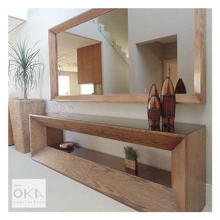 Pasillos y vestíbulos de estilo  por Alessandra Orsi - Studio OKA Arquitetura