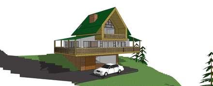 Casa CG: Casas de estilo rural por Le.tengo Arquitectos