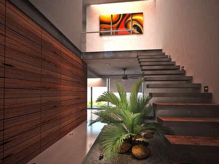 modern Corridor, hallway & stairs by art.chitecture