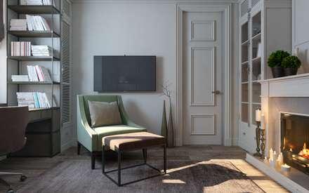 Elegant Home: Рабочие кабинеты в . Автор – Zikzak Design Studio