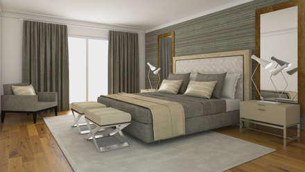 Apartamento no Estoril: Quartos modernos por FEMMA Interior Design