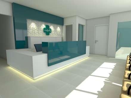 Clínicas de estilo  por Marcelle Langaro Arquitetura e Interiores