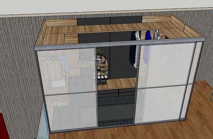 Camera da letto in stile industriale idee homify for Armadio stile industriale