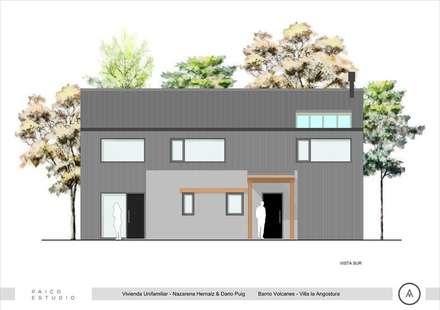 Vista Sur: Casas de estilo escandinavo por Paico