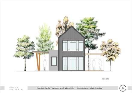 Vista frente: Casas de estilo escandinavo por Paico