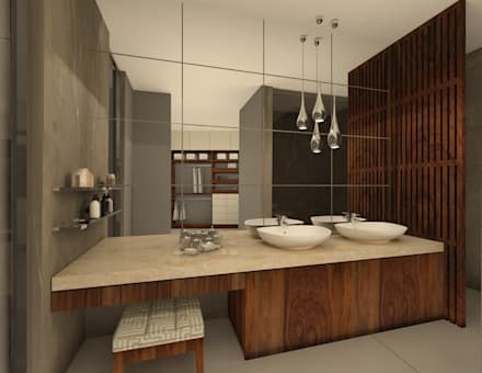 Baño Principal: Baños de estilo  por Vau Studio