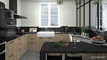 rustic Kitchen by MJ Intérieurs