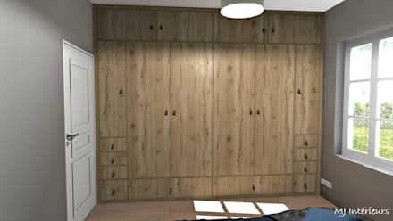 Closets de estilo  por MJ Intérieurs