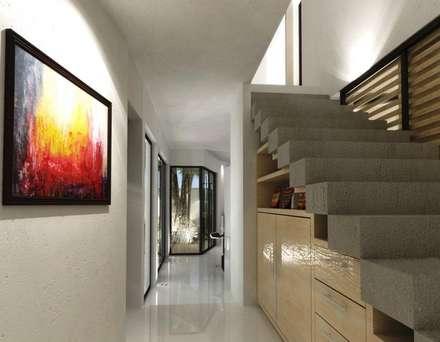 Pasillos y vestíbulos de estilo  por FRACTAL CORP Arquitectura