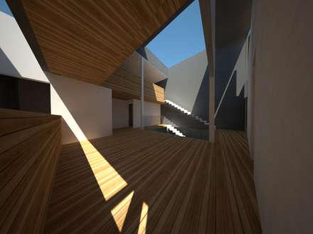 Casa Jara-Andrade, Iquique... Tramas, vacío y luz.: Estudios y biblioteca de estilo  por Toledo estudio Arquitectos