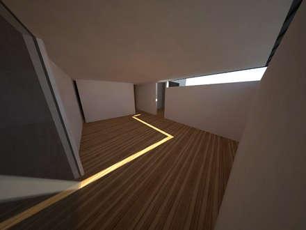 Casa Jara-Andrade, Iquique... Tramas, vacío y luz.: Dormitorios de estilo moderno por Toledo estudio Arquitectos