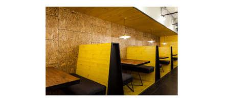 Detalle butacas: Bares y clubs de estilo  por ESPACIO 6280