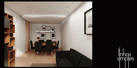 o que projectámos / what we plan: Salas de jantar modernas por Linhas Simples