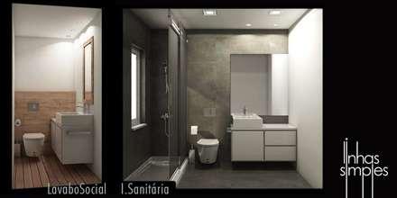 o que projectámos / what we plan: Casas de banho modernas por Linhas Simples