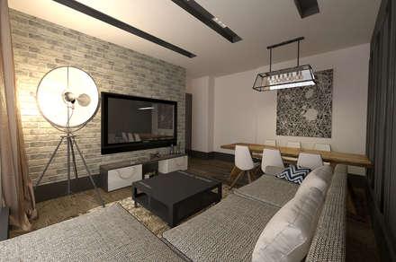 50GR Mimarlık – örnek daire_kozyatağı: modern tarz Oturma Odası