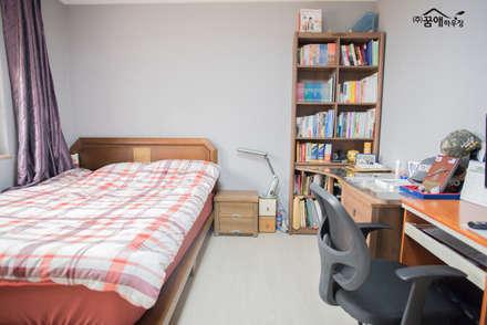 꿈속의 동화같은 단층 목조주택: 꿈애하우징의  다이닝 룸