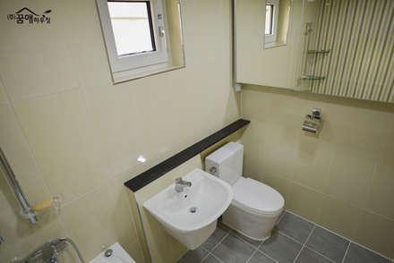 꿈속의 동화같은 단층 목조주택: 꿈애하우징의  화장실