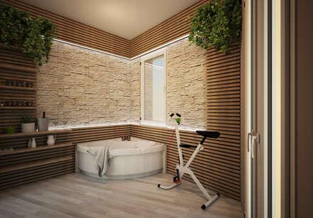 Appartamento P: Spa in stile in stile Moderno di Michele Vangelista Architetto