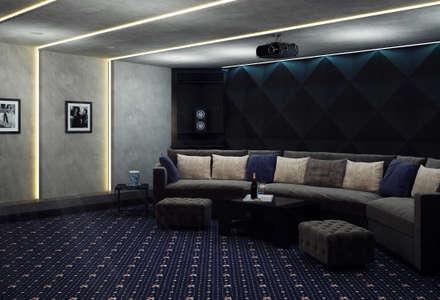 Домашний Кинозал Астана : Медиа комнаты в . Автор – InsaitDesign