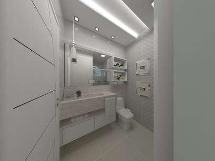 Banheiro: Banheiros modernos por Aline Bassani Arquitetura