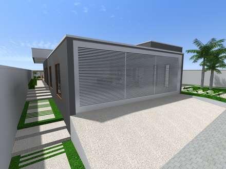 Casa Moderna: Casas modernas por Lélia Chitarra