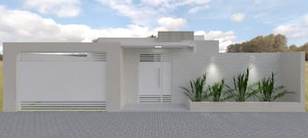 Fachada: Casas modernas por Aline Bassani Arquitetura