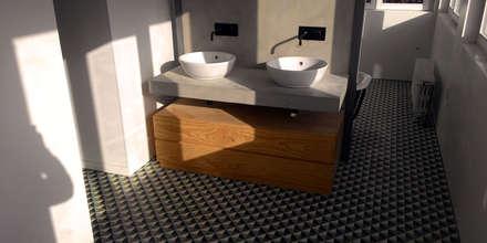 015.CA.12 | Requalificação de Moradia Unifamiliar: Casas de banho modernas por Just an Architect | João Abreu Arquitectos