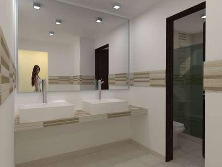 Casa EDOMEX: Baños de estilo  por REA + m3 Taller de Arquitectura