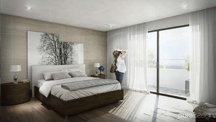 ห้องนอน by Pure Design