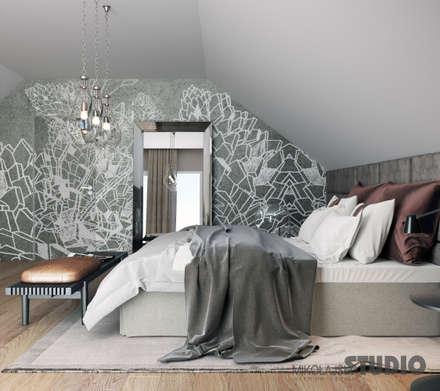 Elegante Schlafzimmer Design Ideen: ausgefallene Schlafzimmer von MIKOLAJSKAstudio