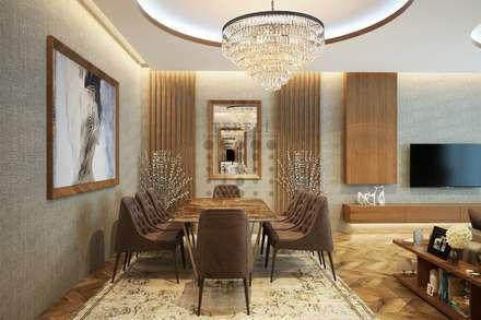 Tepeli Mimarlık - Avcılar - Gümüşpala Örnek Dairet: modern tarz Yemek Odası