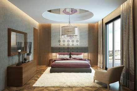 Tepeli Mimarlık - Avcılar - Gümüşpala Örnek Dairet: modern tarz Yatak Odası