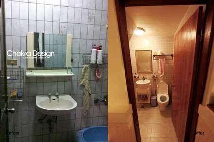 劉公館整修案:  浴室 by 七輪空間設計