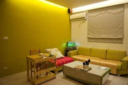 一房一廳公寓(舊屋整修)-黎公館:  花園 by 七輪空間設計