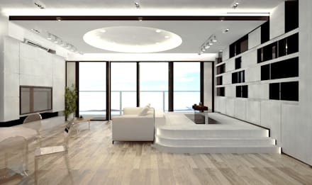 Mayfair By The Sea: minimalistic Living room by Much Creative Communication Limited