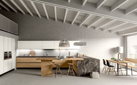 eclectic Kitchen by Atra Cucine