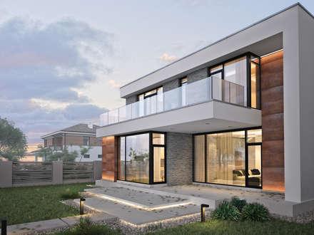 Загородный дом для молодой семьи: Дома в . Автор – премиум интериум