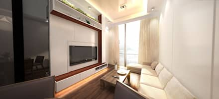 6/F TOWER 6 METRO TOWN PHASE 2 LE POINT: minimalistic Living room by Much Creative Communication Limited