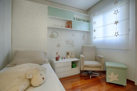 modern Nursery/kid's room by Isabella Magalhães Arquitetura & Interiores