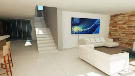 link: minimalistic Media room by Edge Design Studio Architects