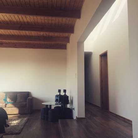 pasillo y living: Pasillos, hall y escaleras de estilo  por Vinci studio