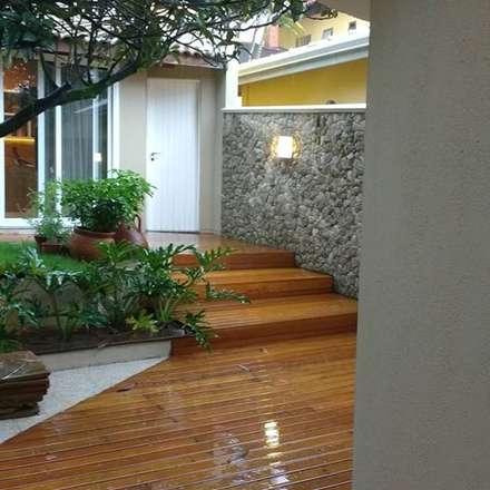 Páteo externo: Jardins modernos por MONICA SPADA DURANTE ARQUITETURA