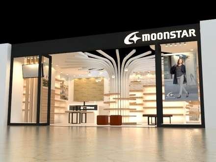 南港TICYLINK-moonstar專櫃:  購物中心 by 凱泰室內裝修
