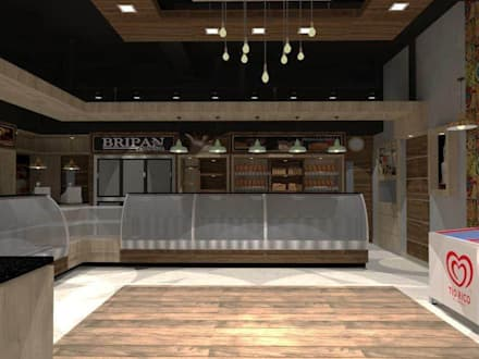 Panaderia Bripan. : Restaurantes de estilo  por SCABA EQUIPAMIENTO Y ARQUITECTURA COMERCIAL , C.A.