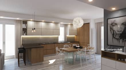 Cucina: Cucina in stile in stile Moderno di Beniamino Faliti Architetto